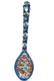 Polish Pottery Soup Spoon - Impatiens