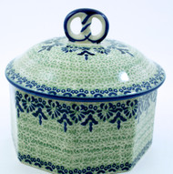 Pottery Polish Pottery Pretzel Box - Unikat Lace