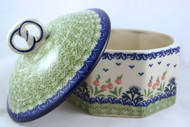 Polish Pottery Pretzel Box - Danny's Girl