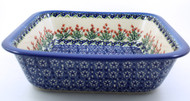 Polish Pottery Deep Square Baker Spring