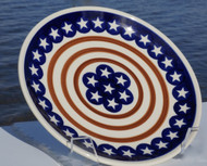 "7"" Polish Pottery Plate - Stars & Stripes"