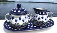 Polish Pottery Creamer & Sugar Set - Sweetheart