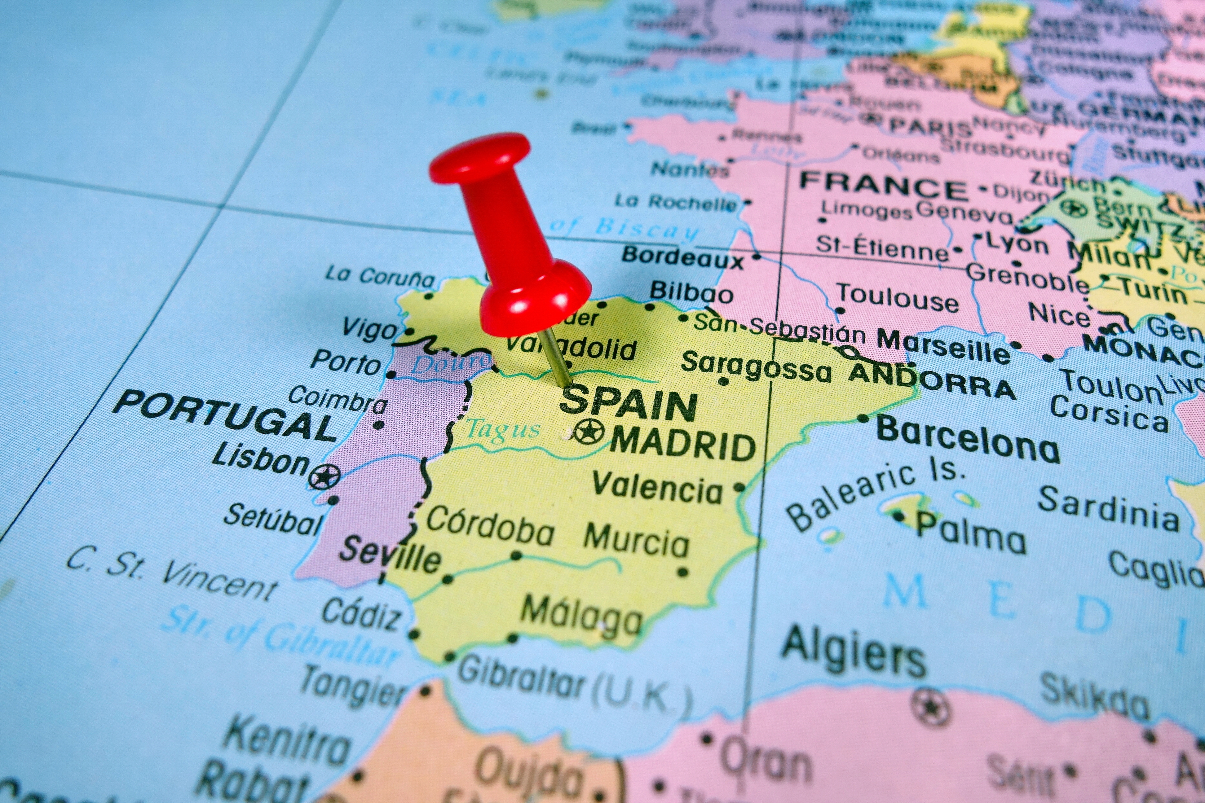 Map Of Spain Mountains.Destination Picasso Spain Farms And Mountains