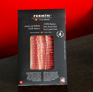 Fermin Iberico ham 100% acorn fed sliced, 2 oz (56 g)  • Free range - 100% acorn fed • By Fermin • La Alberca, Salamanca Spain • Sliced • 2 oz (56 g) • Free range-Acorn fed certified • 4 years curing process