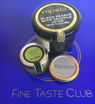 Trio; Siberian Reserve Caviar + EVOO and Truffle pearls