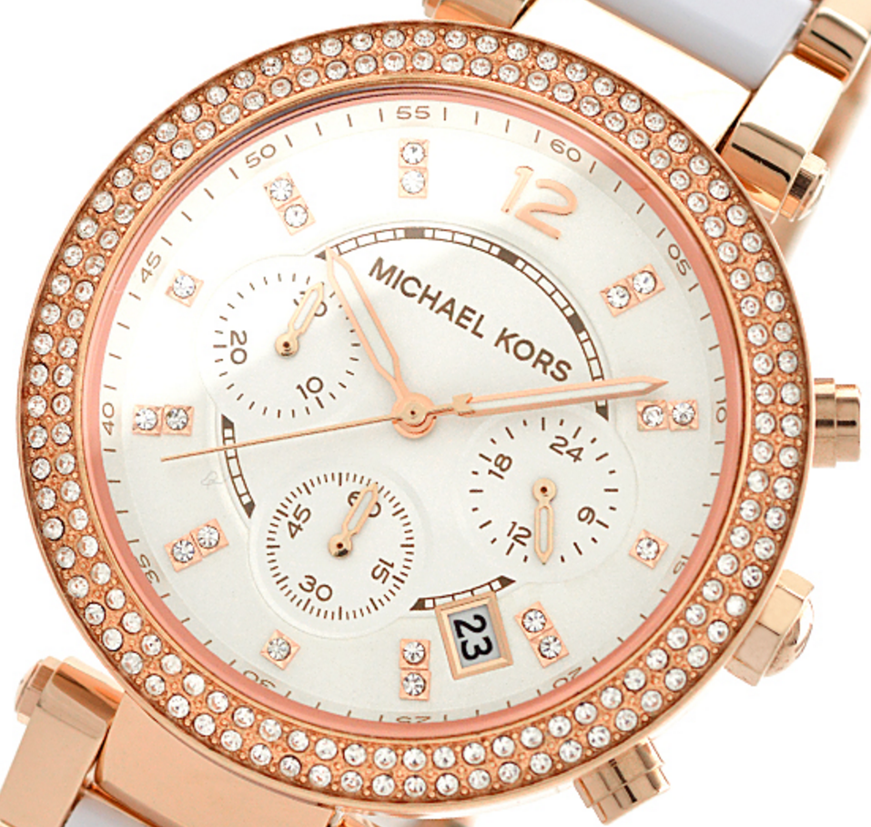 721cdfff108d All prices are in GBP. Home · LADIES  WATCHES · Michael Kors Women s  Michael  Kors Womens Parker Chronograph MK5774. Image 1