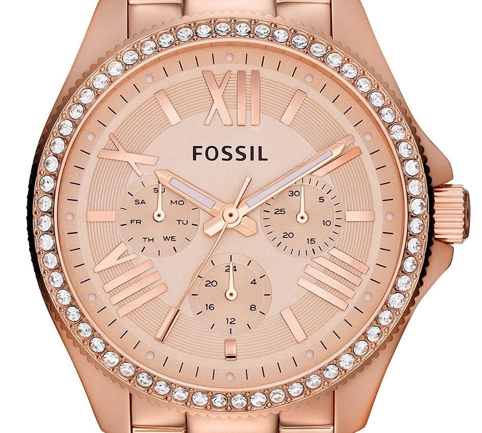 Fossil Cecile Ladies Watch Am4483 Best Quality Watches Es3590 Stella Multifunction Rose Tone Stainless Steel Image 1