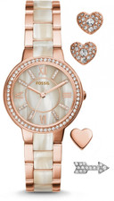 Fossil Virginia Ladies Watch and Earring Set ES3965SET