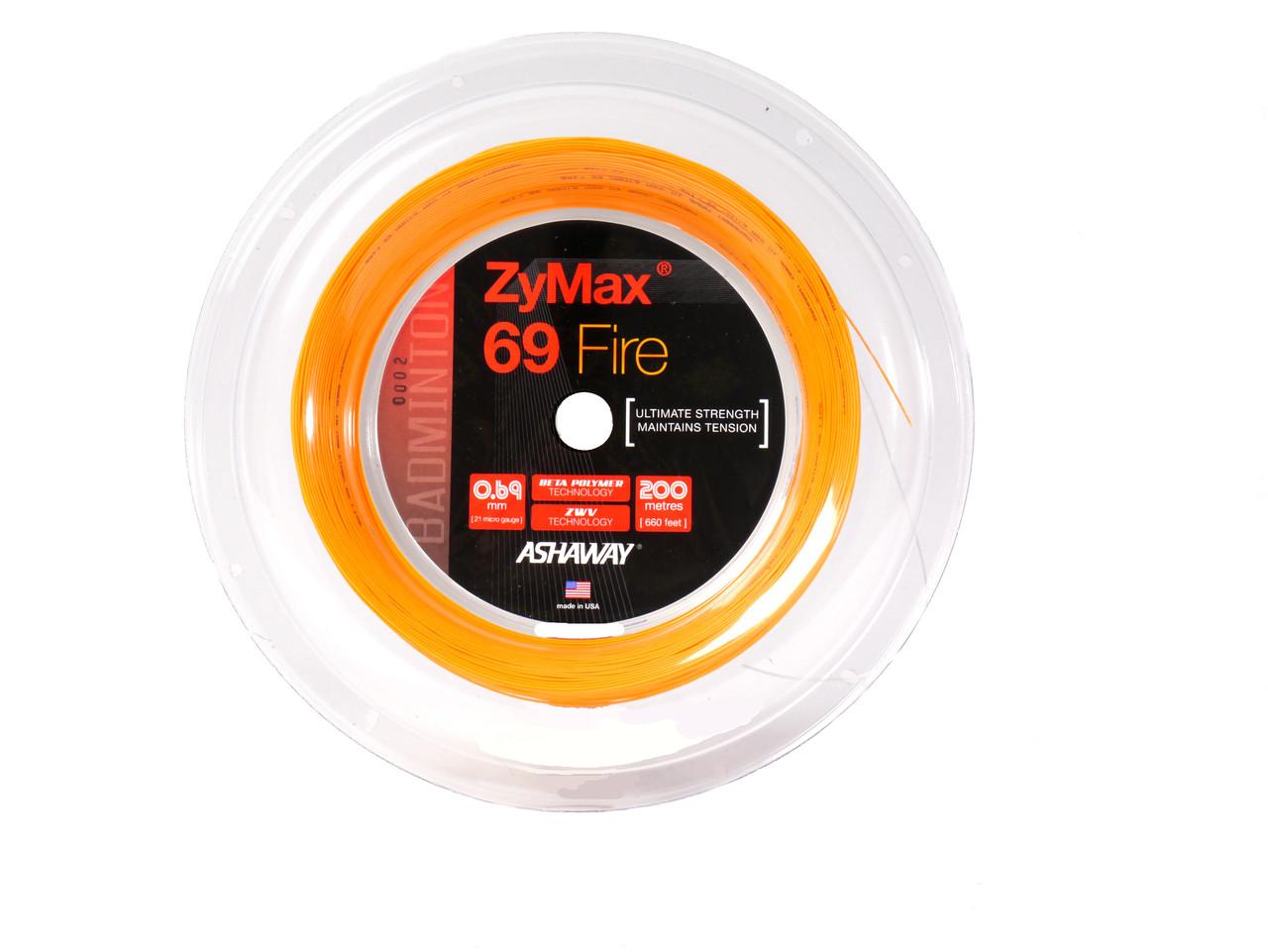 Ashaway Zymax 66 Fire Power Badminton String 200m Reel