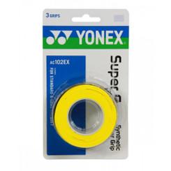 YONEX 3 PACK SUPER GRAP - AC102EX YELLOW