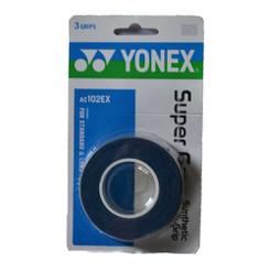 YONEX 3 PACK SUPER GRAP - AC102EX DEEP BLUE