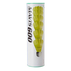 YONEX MAVIS 600 - SPEED FAST / RED / YELLOW SKIRT - 1 TUBE
