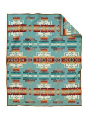 Pendleton Woolen Mills Chief Joseph Aqua Blanket