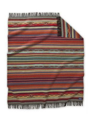 Pendleton Chimayo Garnet Throw with Fringe