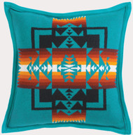 Pendleton Chief Joseph Turquoise Decorative Pillow