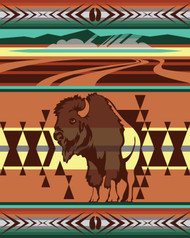Animals of Yellowstone Series Bison Blanket