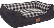 Pendleton Charcoal Ombre Plaid Kuddler Pet Bed
