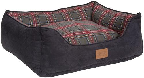 Pendleton Grey Stewart Plaid Kuddler Pet Bed