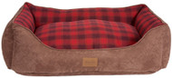 Pendleton Red Ombre Plaid Kuddler Pet Bed