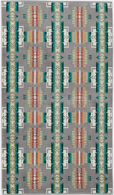 Pendleton Chief Joseph Grey Jacquard Oversize Towel