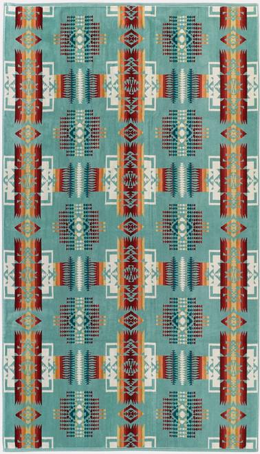 Pendleton Chief Joseph Aqua Jacquard Oversize Towel