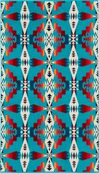 Pendleton Tucson Turquoise Jacquard Oversize Spa Towel