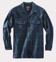 Pendleton Long Sleeved Washable Wool Board Shirt in Blackwatch