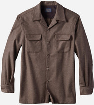Pendleton Classic Fit Board Shirt in Brown Mix Solid