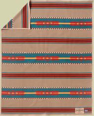 Santa Fe Trail Blanket by Ramona Sakiestewa woven by Pendleton Woolen Mills.