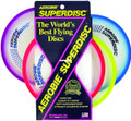 Aerobie 25R12 Superdisc Flying Disc - Asst Colors-Red/Yllw/Blue/Purple - 25R12