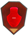 Allen 561 Antler Mounting Kit, Wood - Grain Plaque, Red Skull Cover - 561