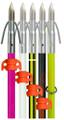 AMS A203-WHT Fiferglass Arrow Chaos - Point White Shaft & Safety Slide - A203-WHT
