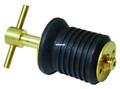 "Attwood 7526A7 Brass T-Handle Drain - Plug 1"" Dia W/O Chain Clam Pack - 7526A7"