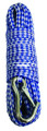 "Attwood 11725-2 Anchor Line - 3/8""x50' Hollow Braid Blu/Wht w/Hk - 11725-2"