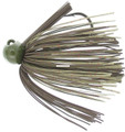 Bass Patrol BPJ1408 Western - Football Jighead, 1/4 oz, Green - BPJ1408