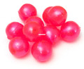BnR Tackle SBAJ14 Soft Beads, 14 mm - Sweet Pink Cherry, Neutral Buoyancy - SBAJ14