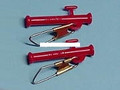 BnR Tackle 10701 Large Red Slydo - Sinker Slide with Clips, 2/PK - 10701