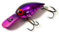 "Brad's BW-29 Wiggler Crankbait, 3"" - 3/8 oz, Metallic Cerise with Purple - BW-29"