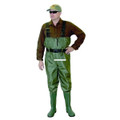 Caddis CA3901W10 PVC Chest Wader - Ultra Lite Green Sz10 - CA3901W10
