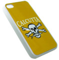 Calcutta CIPC-1 IPhone Case 4 & 4S - Cal Logo Yellow Blk Silicone Case - CIPC-1
