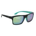 Calcutta RT1GM Rip Tide Sunglasses - Black Frame GreenMirror Lens - RT1GM