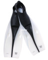 Calcutta BR57640 Slip On Swim Fins - Sz 6-8 Clear/Black - BR57640