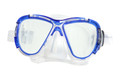 Calcutta BR57620 Silicone - Snorkeling Mask, Med/Lg Clear/Blue - BR57620