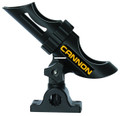 Cannon 2450169-1 Deck-Mount Rod - Holder, 3-Position, Black - 2450169-1