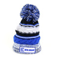 Clam 12196 Youth Blue Knit Pom - Stocking Hat - 12196