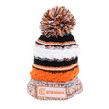 Clam 10957 Orange Knit Pom Stocking - Hat - 10957