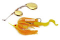 Dixie Dancer DDT02 Spinnerbait, 3/8 - oz, Tandem Indiana Blades, Yellow - DDT02