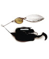 Dixie Dancer DDW03 Spinnerbait, 3/8 - oz, Tandem Willow Blades, Black - DDW03