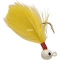 Double OO 61104 Flu-Flu Jig, 1/64 - oz, Sz 10 Hook, White/Yellow - 61104