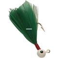Double OO 61103 Flu-Flu Jig, 1/64 - oz, Sz 10 Hook, White/Green - 61103